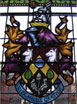 Haslemere Coat of Arms stained glass window design at Town Hall