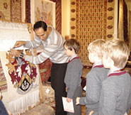School children at The Oriental Rug Gallery Ltd