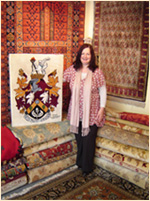 Sandre Blake Director of The Oriental Rug Gallery Ltd and one of the creators of the UK's first-ever rug-knotted & hand-woven Coat of Arms Weaving.jpg